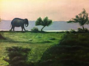 Lars-af-Sillen-elefant-olja-konst