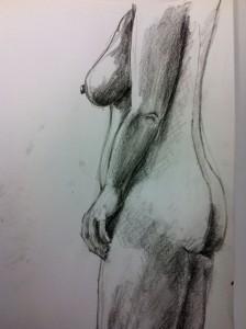 Lars-af-Sillen-kroki-kol-blyerts-naken-kvinna-konst