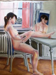 Lars-af-Sillen-modellmalning-olja-naken-konst